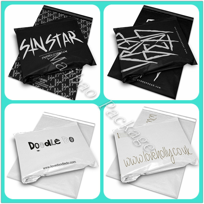 Self Adhesive Sealing Custom Logo Design Plastic Apparel Packaging T-Shirt Shipping Bag