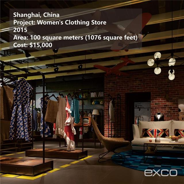 EXCO Interior Decoration Materials Used Design For Garment Store