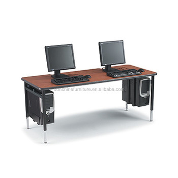 long computer desk for two cheap modern design wooden 2 person computer table 9056