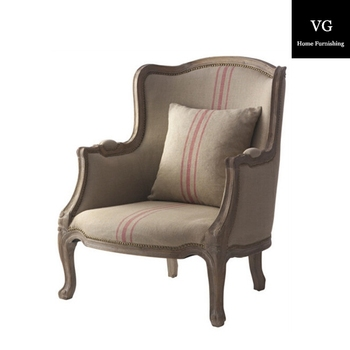 Old Style Chairs, High Back Tufted Script Chairs,antique English Style Home  Furniture Armchair