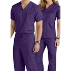 Hot Sale Doctor Uniforms Medical Nursing Scrubs Uniform Clinic Scrub Sets Short Sleeve Tops+Pants Uniform