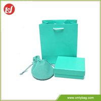 Cheap high quality gift packing bag and box set