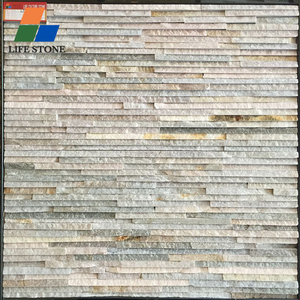 Stone wall cladding natural rusty slender rows cultural slate stone