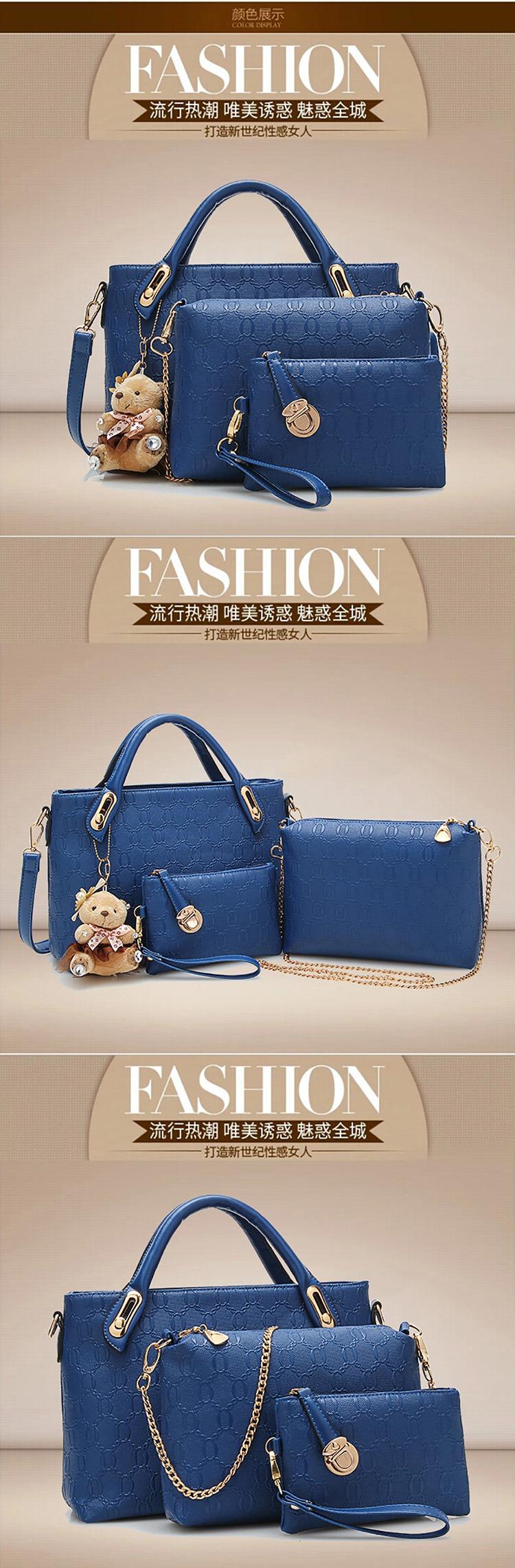 22028d994c 4 pcs bags in 1 set composite leather handbag women s bag ladies hand bags