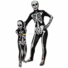 Children and Adult size skeleton zentai body suit breathable lycra skeleton zentai suit