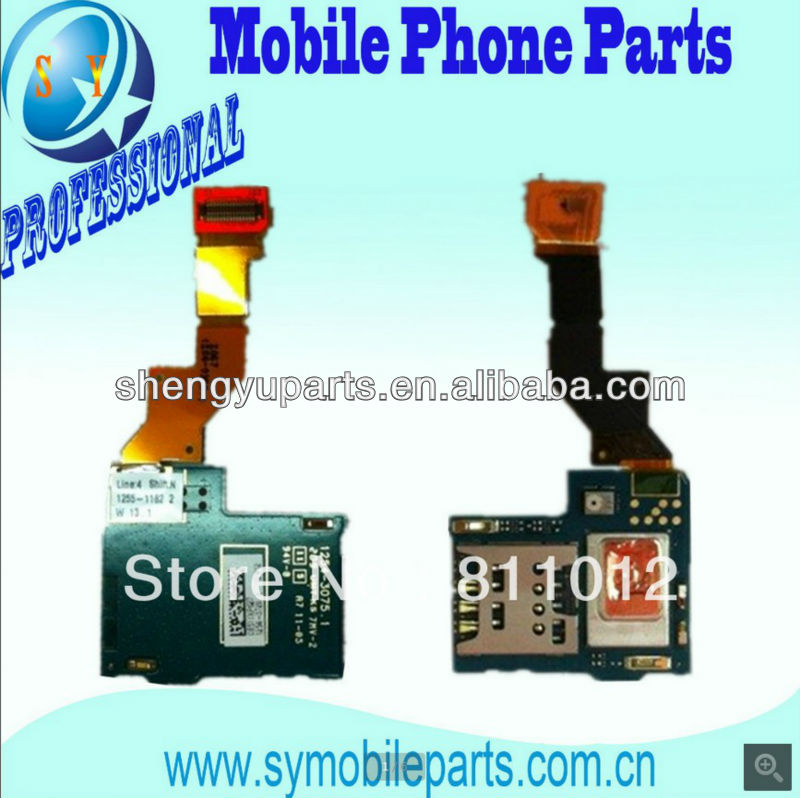 Wholesale OEM Flex For SonyEricsson LT26i lt26i xperia sim card reader holder flex LT26 Micro Replacement Flex