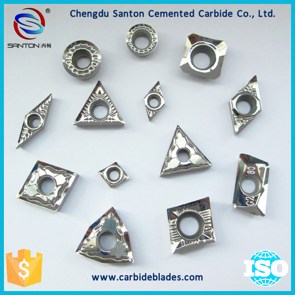 K20 cemented carbide cutting blade for woodworking with double holes