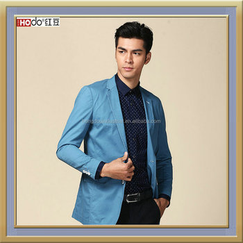 2016 Men's Casual Business Suit Jacket Blue Color - Buy Men Blue ...