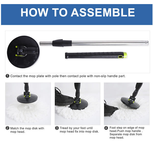 Ispinmop Chinese Import Easy Mop Set As Seen On Television
