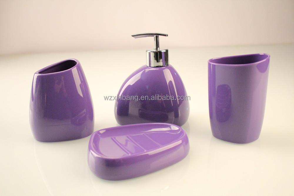 Simple design nordic style solid color 4 piece bathroom for Bathroom designs 7x6