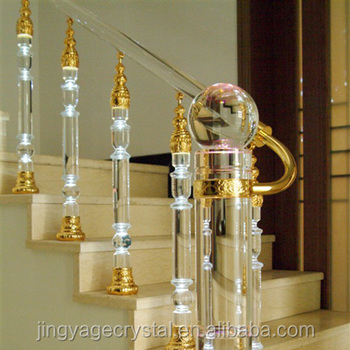 Jingyage Custom Modern New Designs Crystal Stair Balusters Home