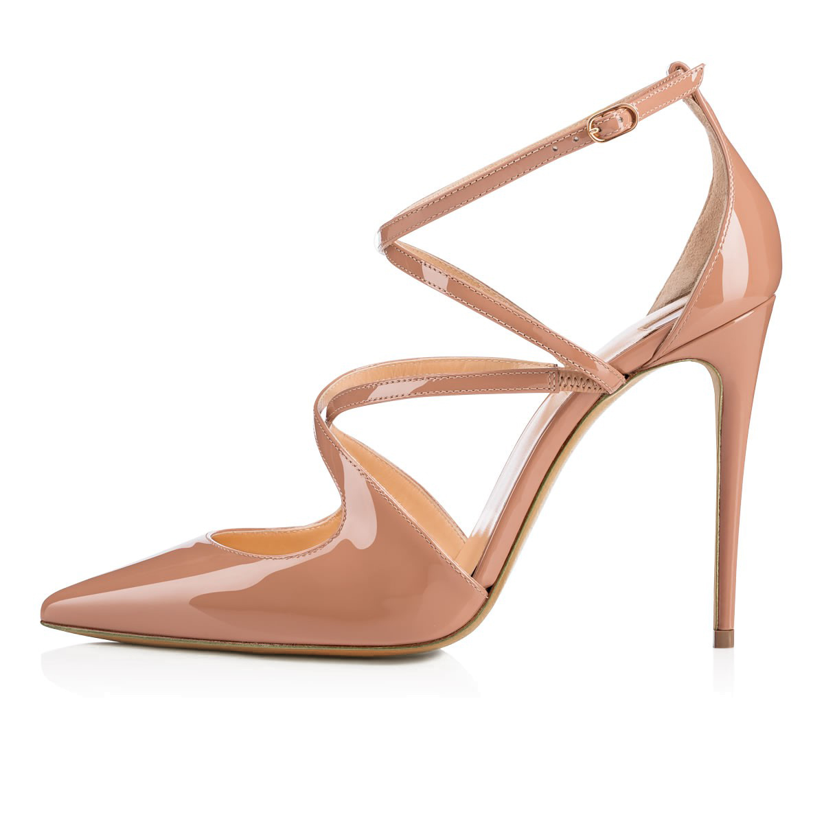 Ladies Stiletto Black Summer Shoes 2019 Red Patent Dress Shoes Women Nude Wedding <strong>Heels</strong> Pointed Toe High <strong>Heel</strong> Strappy Pumps