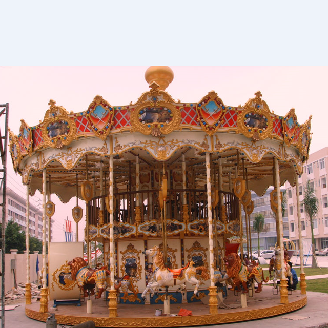Amusement park musical classic kids merry go round Rides Equipment small mini antique game carousel horse rides for sale