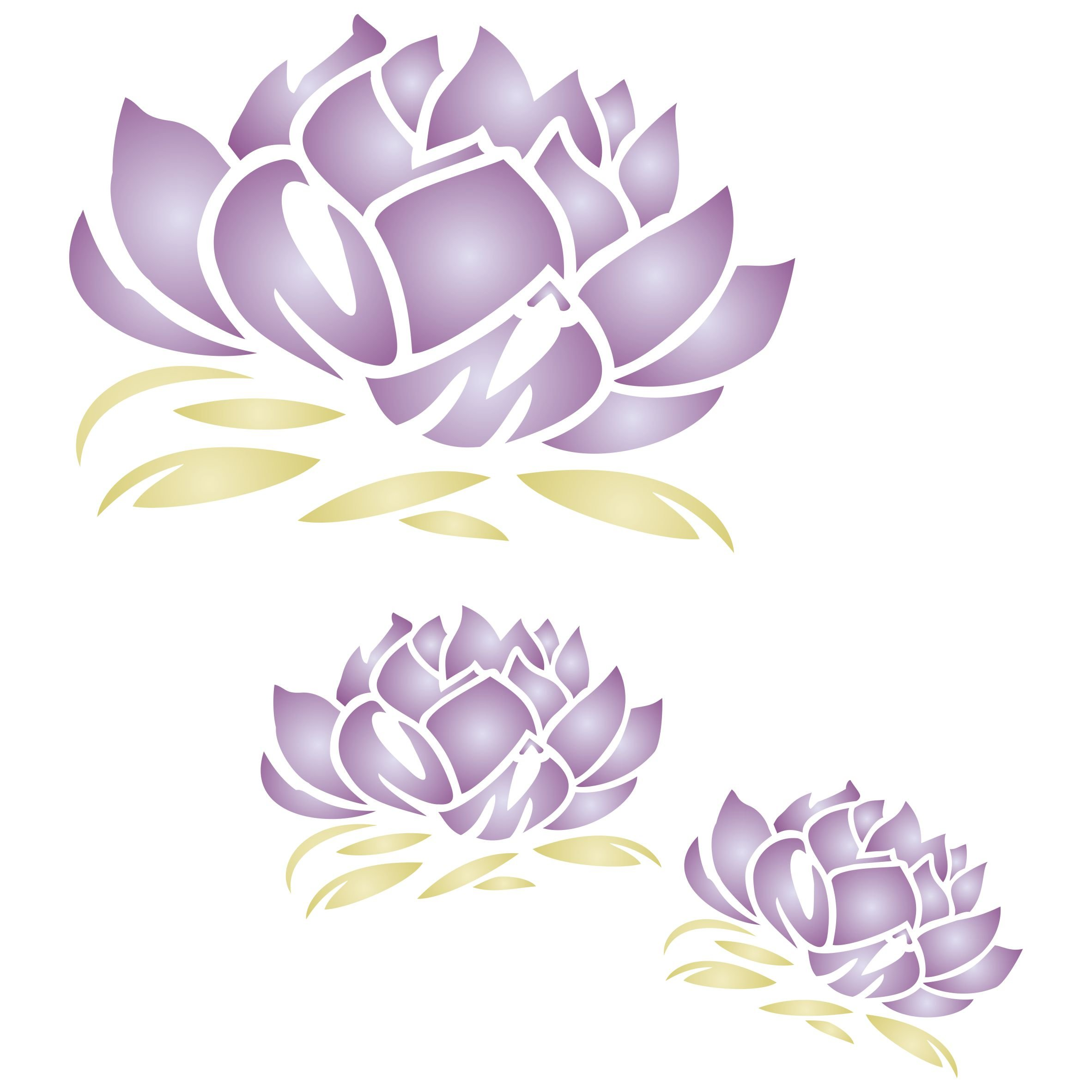 "Lotus Blossom Mural Stencil - (size 10.5"" x 10.5"") Reusable Wall Stencils for Painting - Best Quality Mural Wall Art Ideas - Use on Walls, Floors, Fabrics, Glass, Wood, and More…"