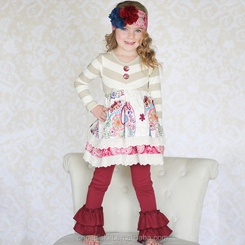 c483da9bddcb 2015 wholesale children's boutique clothing baby elephant print clothes  baby girls autumn outfit baby toddler boutique