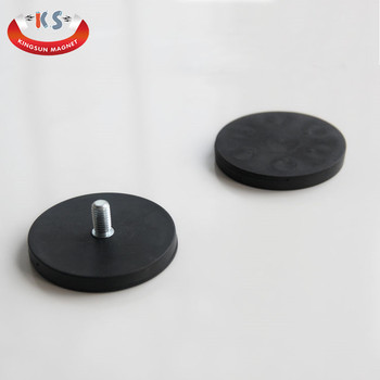 Neodymium Rubber Coated Pot Magnet,Magnetic Hook