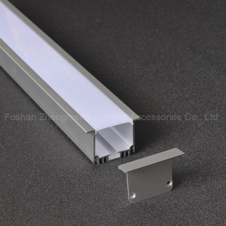 Recessed Extrusion U Slot Customized LED Aluminium Profile for Wall and Ceiling Led