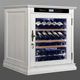 55 bottles single zone white wood electric wine cooler cabinet