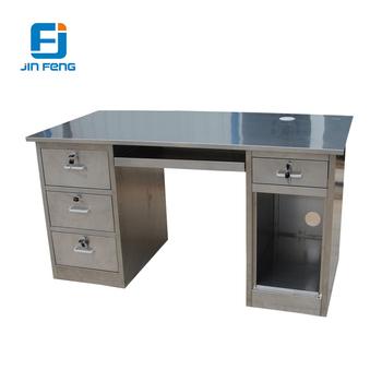 Stainless Steel Computer Desk / Office Desk