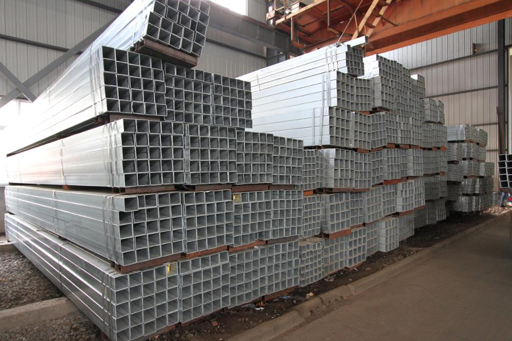 Hot dipped galvanized square hollow section steel pipes