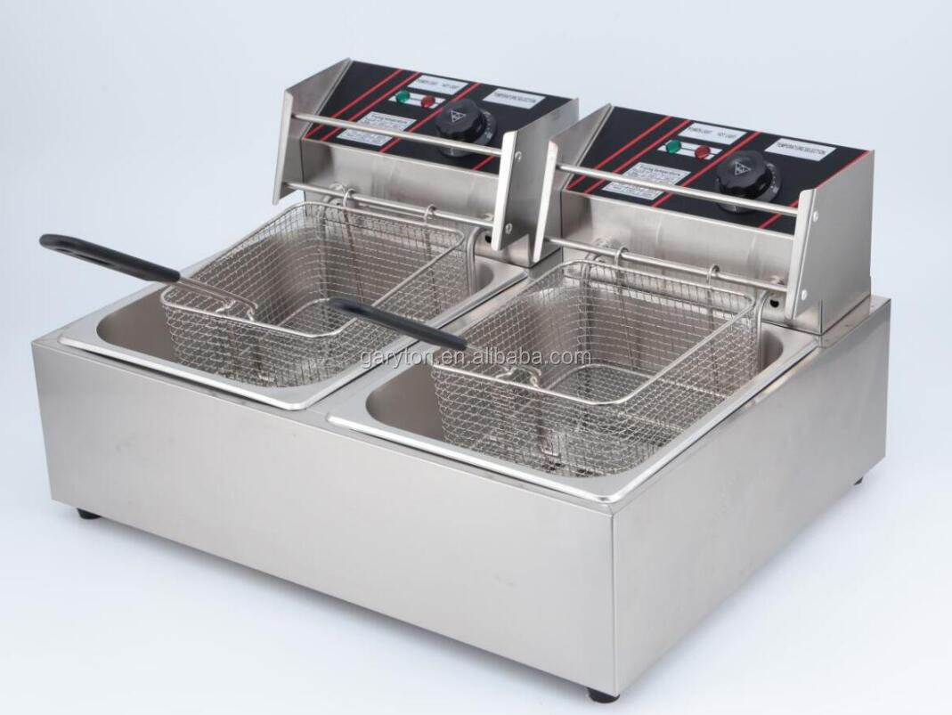 GRT-RJ82 Commercial Using  Double Tank Chicken Fryer