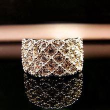 Korea elegant luxury sparkling full Fangzuan temperament ladies fashion accessories wholesale rings