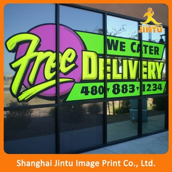 custom printing personality poster sticker one way vision stiker