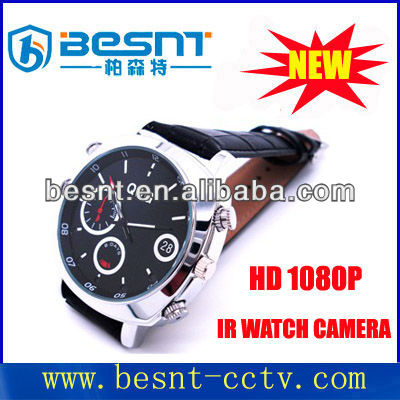 16gb Motion Detection Watch Camera HD 1080P Watch sport hidden CCTV Camera Video, take pictures with real time BS-S09