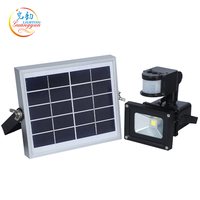 High quality outdoor waterproof 10w ip65 flood lamp solar emergency light