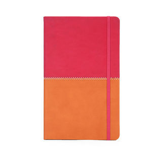 Eco friendly a5 leather diary splice notebook set with elastic band
