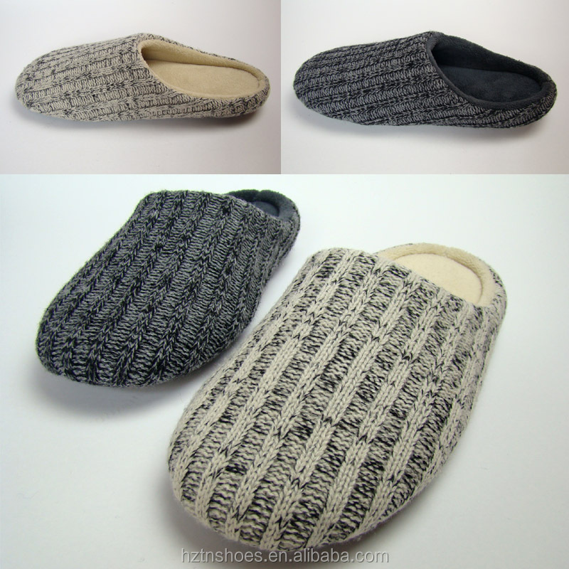 2015 men knitted indoor <strong>slippers</strong> home <strong>slippers</strong> non-slip quite floor <strong>slippers</strong>