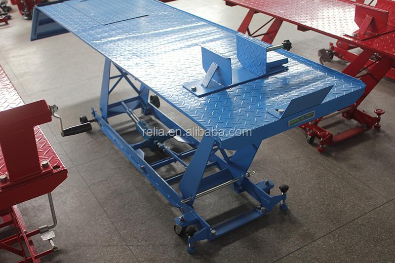 800 Lbs Air Hydraulic Motorcycle Scissor Lift Table With Wheel Vise Buy Motorcycle Scissor