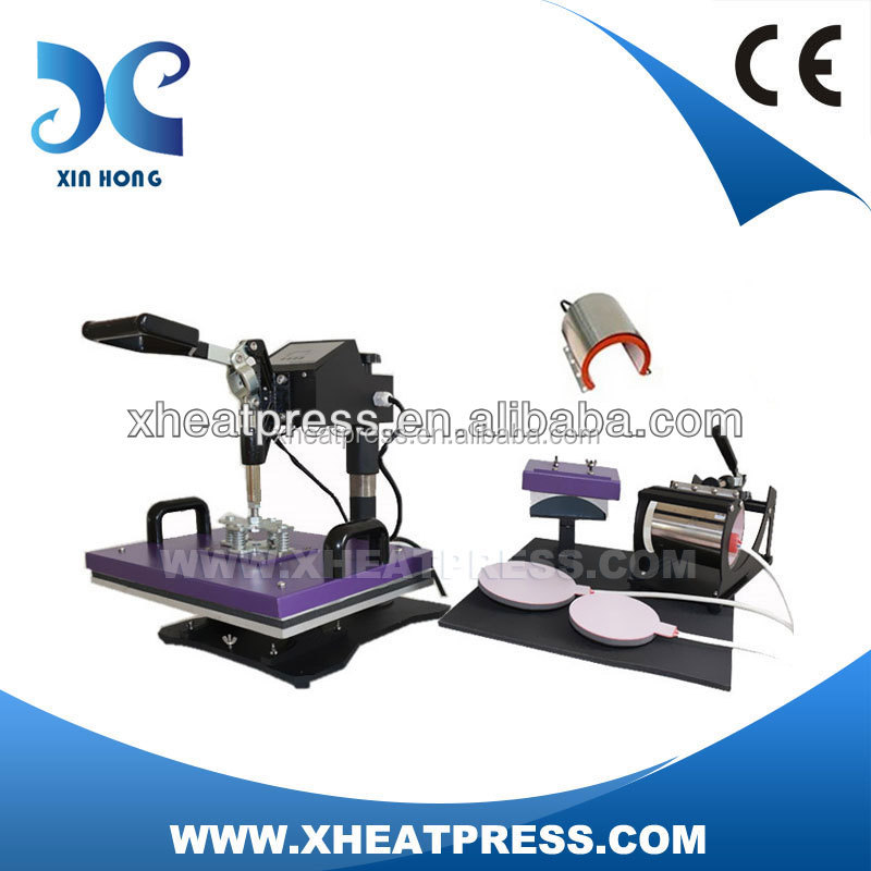 6 in 1 LCD or digital combo multifuction precision heat press machine manufacturer SGS approved HP6IN1-2