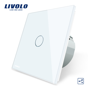 Livolo 220V White Smart 2 Way Electrical LED Touch Wall Light Switch VL-C701S-11