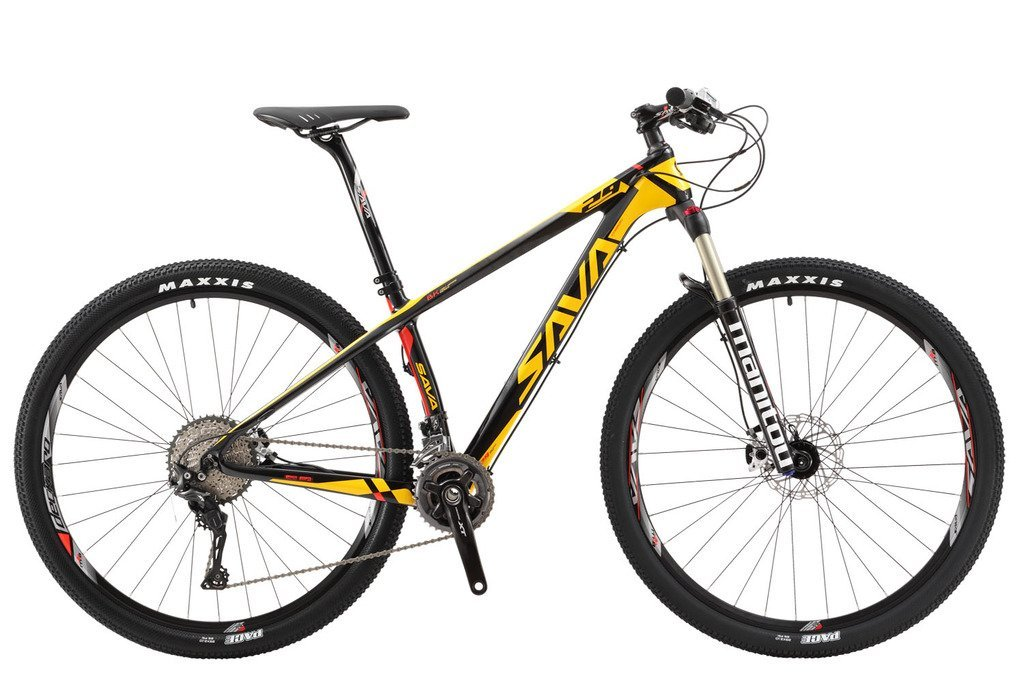 "SAVADECK 700 Carbon Fiber Mountain Bike 26""/27.5""/29"" Complete Hard Tail MTB Bicycle 22 Speed SHIMANO 8000 DEORE XT Manituo M30 Suspension Fork Maxxis Tire"