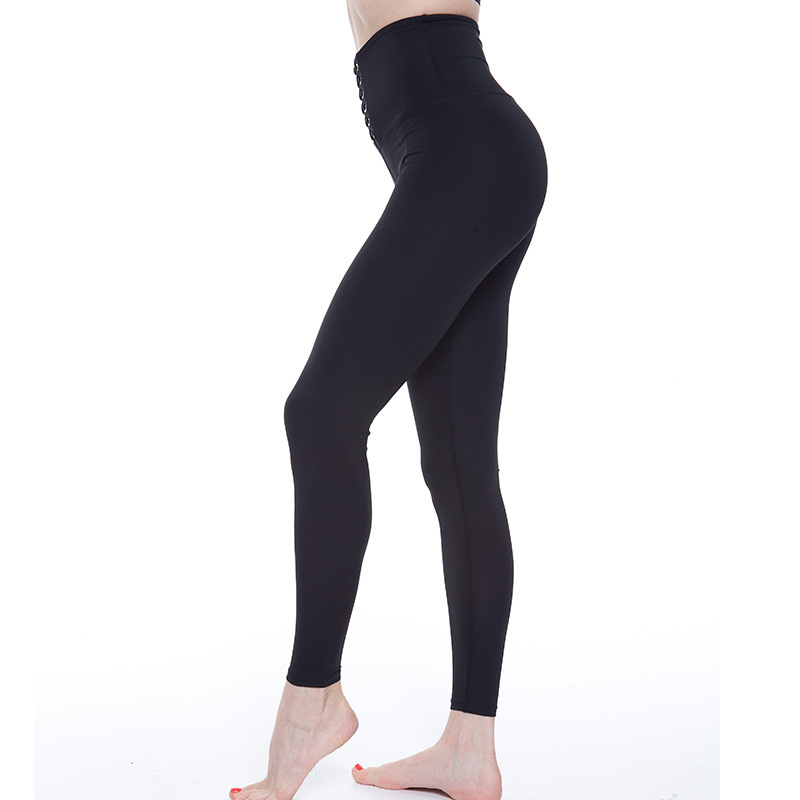 Women Front Cutout Ripped Hole Soft Stretch Yoga Athletic Dance Leggings