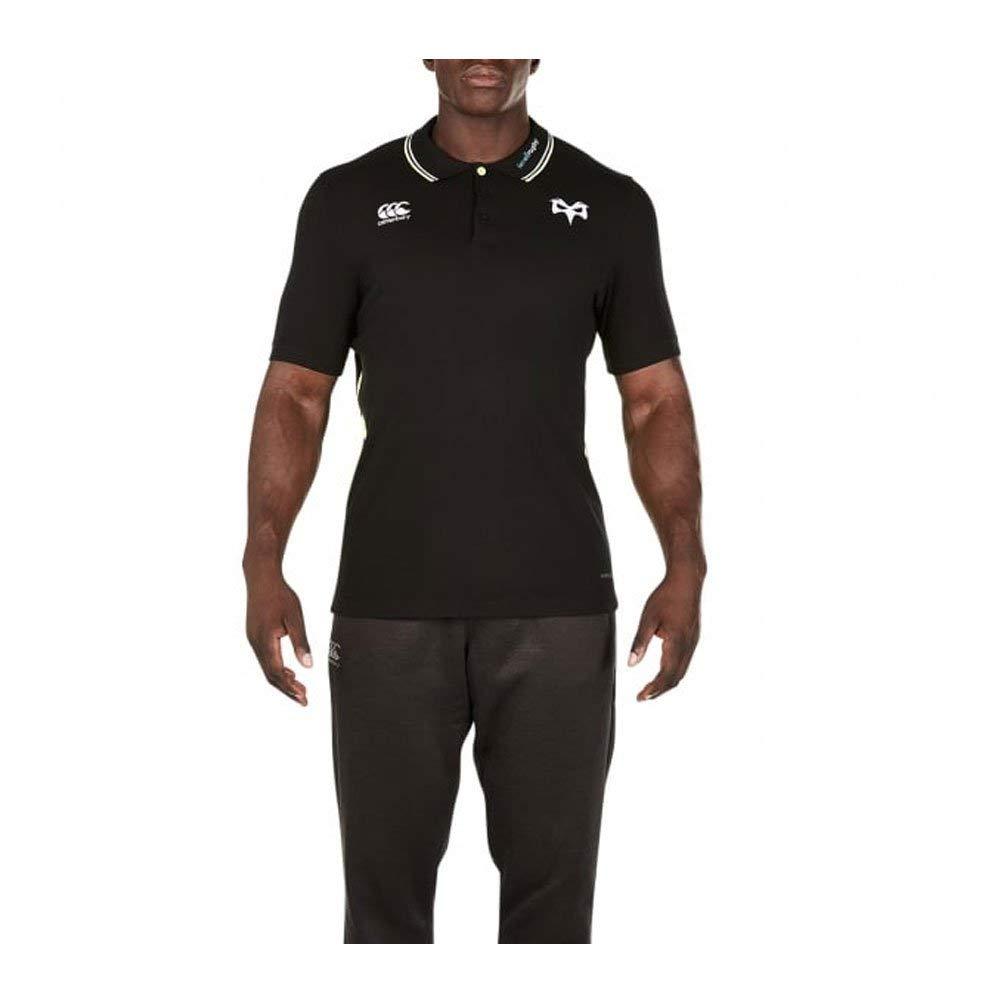 392053b6169 Canterbury 2017-2018 Ospreys Rugby Cotton Pique Polo Shirt (Tap Shoe)