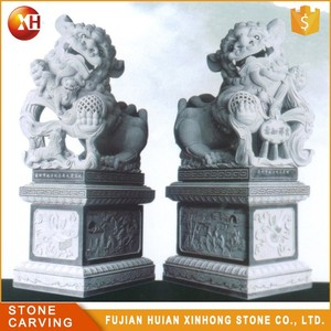 Wholesale Life Size Front Door Decoration Fine Stone Lion Sculpture