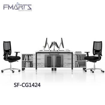 Moderate Price Simple Design White Lacquer Table Office Furniture Counter Workstations Modular