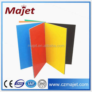 Orange color acp 4mm panels car acm