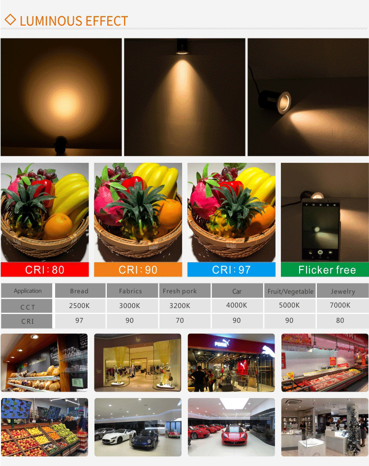 3W recessed led spot lights  hotel lighting with mini hole