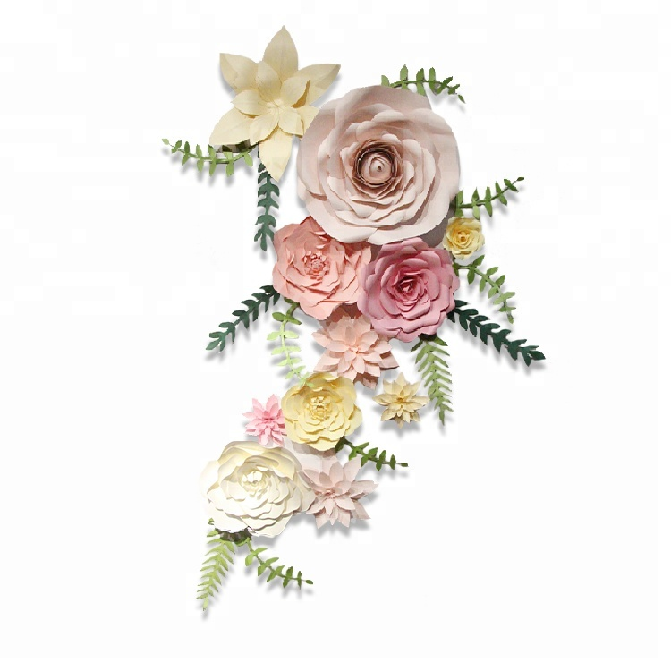 New design artificial <strong>flower</strong> for wall decoration giant paper <strong>flowers</strong> Home Party decorations