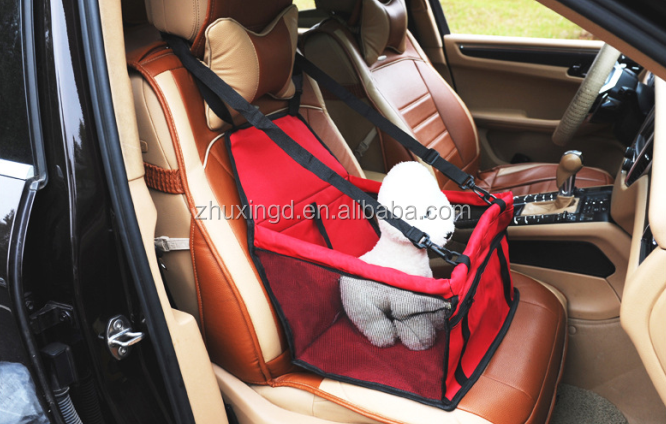 Make dog car seat, safety dog car seat, new design foldable dog pet car booster seat