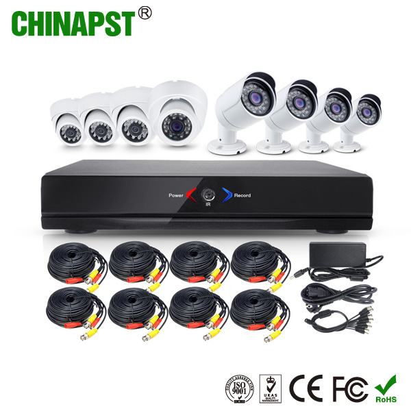 Cheap Newest Home Security 8 Channel DVR 720p P2P IR CCTV Ahd Camera Kit PST-AHDK08BL