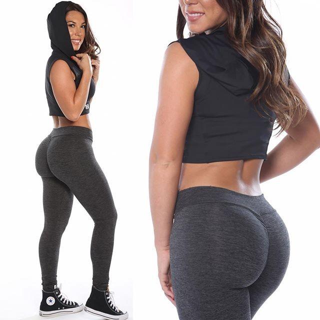 High Waist Women Gym Wear Booty Enhancer Scrunch Leggings ...