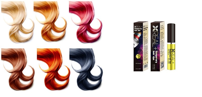 Real Plus Temporary Hair Dye,Change Hair Color Freely,Easy To Use ...