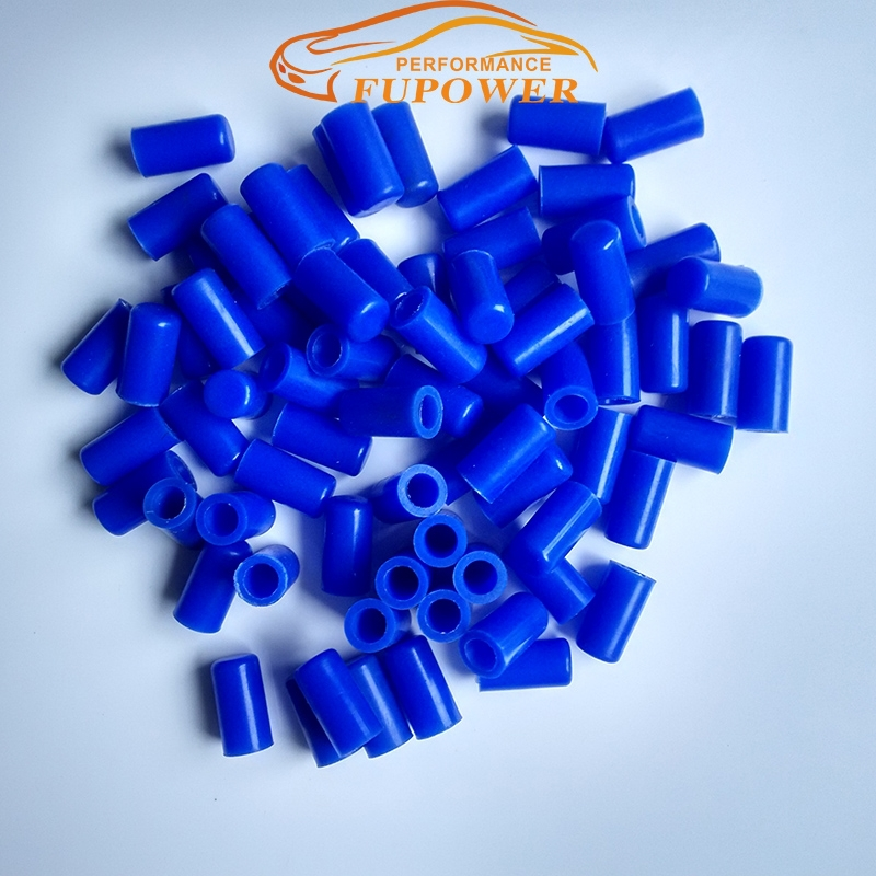 Brand Fupower 4mm-Silicone Hose End Blanking Caps - Cap Off Bung Silicon Rubber Finisher Pipe
