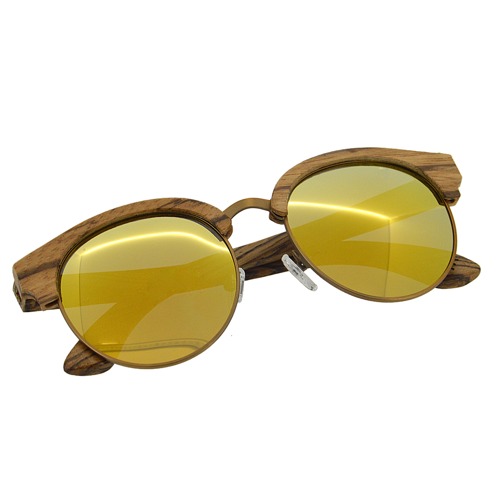palorized bamboo sun glasses 2017 wholesale mirror lens zebra wooden sunglasses high quality wood sunglases