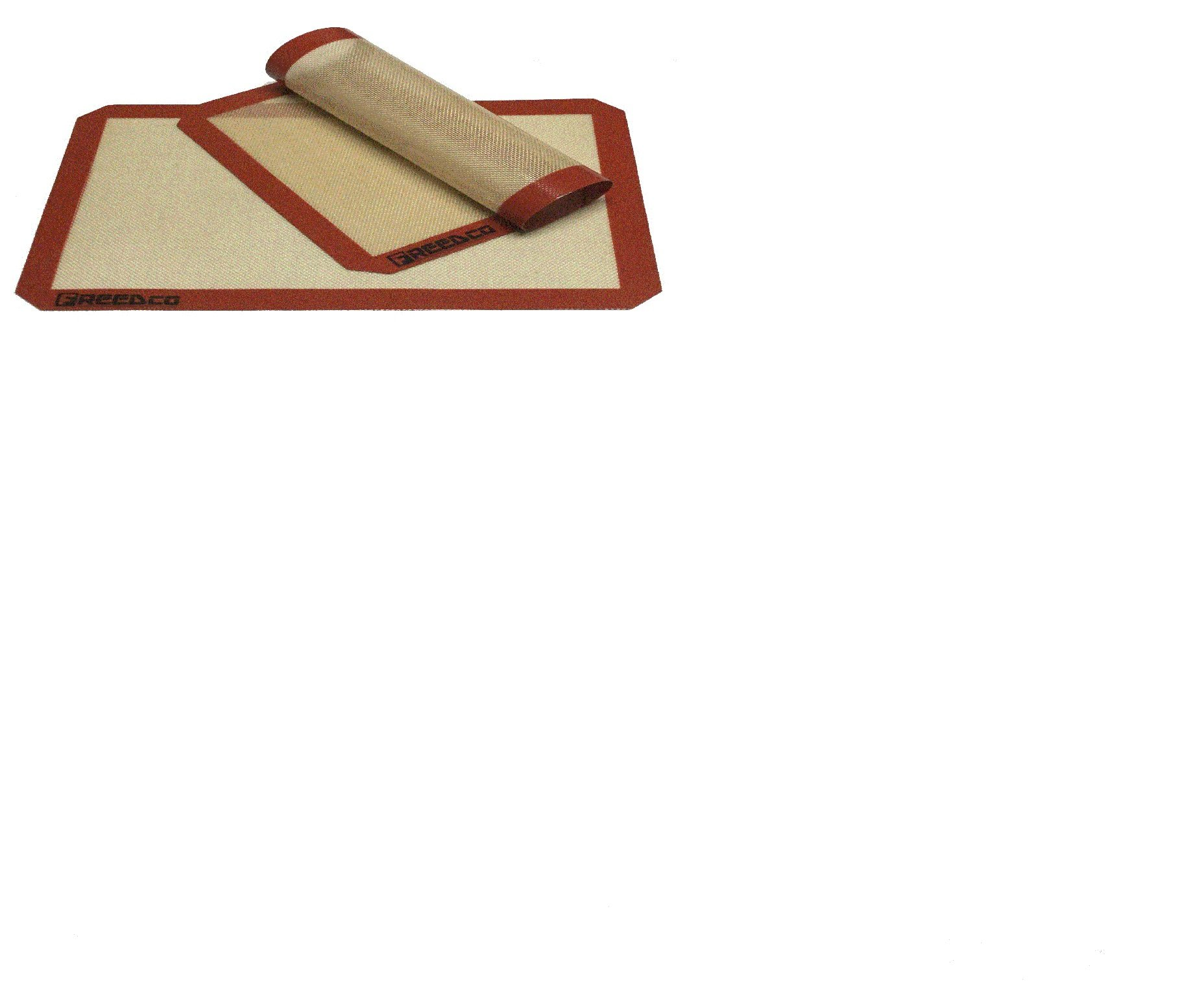 "Freedco Non-Stick Silicone Baking Mat, Cookie Sheet Size 11 5/8"" x 16.5"", 0.75mm Thick for Long Lasting, Set of 2 Pieces."