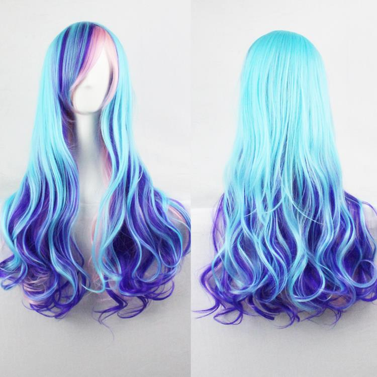 blue and purple wavy - photo #16